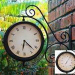 Horloge de Gare Extérieur pivotante avec Thermomètre – 31.5cm de la marque Primrose image 1 produit
