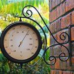 Horloge de Gare Extérieur pivotante avec Thermomètre – 31.5cm de la marque Primrose image 2 produit