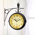 Horloge de gare rétro double face de la marque St. Leonhard image 1 produit