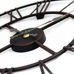 Horloge en métal Chiffres romains Noir de la marque Kitchen Clocks and Wall Clocks image 1 produit