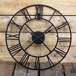 Horloge en métal Chiffres romains Noir de la marque Kitchen Clocks and Wall Clocks image 2 produit