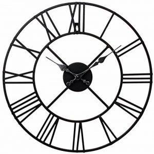 Horloge en métal Chiffres romains Noir de la marque Kitchen Clocks and Wall Clocks image 0 produit