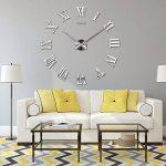 Horloge Murale 3D DIY Moderne Chiffres Romains Horloge de Salon Décoration by WHJY (Argent) de la marque WHJY image 2 produit
