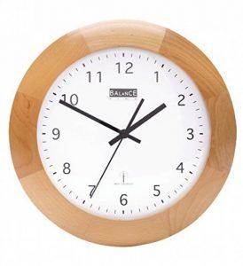 Horloge murale bois radio horloge design rond à cuisine/bureau etc Marron–Quartz–32cm de la marque Eurosell image 0 produit