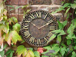 Horloge murale de jardin peinte à la main de Couleur rouille pour décoration d'intérieur ou d'extérieur 30cm de la marque Home and Garden Products image 0 produit