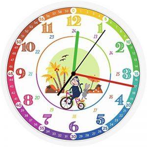 Horloge murale pour enfants, design original pour faciliter et encourager l'apprentissage de l'heure en s'amusant, silencieuse, diamètre 30 cm de la marque Educare image 0 produit