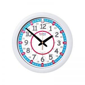 Horloge murale pour enfants « EasyRead Time Teacher », avec affichage (numérique) 12 et 24 heures. Apprendre à lire l'heure numérique sur une horloge analogue grâce au système d'enseignement en 2 étapes d'une grande simplicité. Cadran de 29 cm, pour enfan image 0 produit