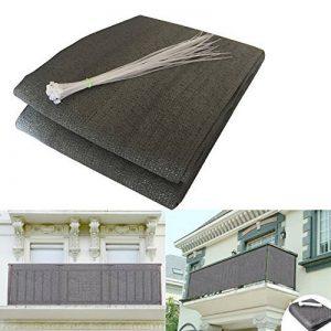 HQS®Brise-Vue/Voiles d'ombrage 500 x 90cm Abriter du Vent/la Pluie/le Soleil pour Balcon Terrasse avec Oeillets Gris de la marque Shsyue image 0 produit