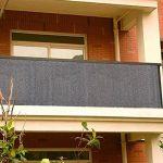 HQS®Brise-Vue/Voiles d'ombrage 500 x 90cm Abriter du Vent/la Pluie/le Soleil pour Balcon Terrasse avec Oeillets Gris de la marque Shsyue image 2 produit