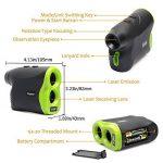 Huepar Golf Télémètre laser Lr1000p 6x 25mm Optics Ranger Finder avec Pinsensor, mesurant jusqu'à 1000,4m, gratuit de la batterie (Vert clair/noir) de la marque Huepar image 5 produit