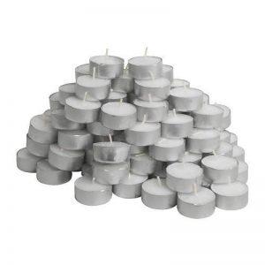 Ikea 3793686856524 GLIMMA 100 Bougie chauffe-plat non parfumée Paraffine Blanc 3,8 x 3,8 x 1 cm de la marque Ikea image 0 produit