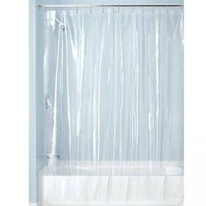 InterDesign Vinyl Liners doublure pour rideau de douche - rideau douche vinyle PVC anti-moisissures 183-0 cm x 183-0 cm avec 12 œillets - transparent de la marque InterDesign image 0 produit