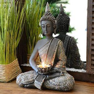 INtrenDU Bouddha Statuette chinois 31cm avec chandelier décoration zen pour intérieur feng shui de la marque INtrenDU image 0 produit