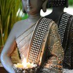 INtrenDU Bouddha Statuette chinois 31cm avec chandelier décoration zen pour intérieur feng shui de la marque INtrenDU image 1 produit
