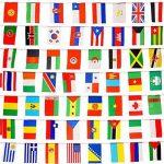 Itian 100 Drapeaux de pays, Drapeaux internationaux Bannière de décoration pour fêtes, Jeux olympiques, Grand ouverture, Bar, Clubs sportifs, etc. de la marque Itian image 4 produit