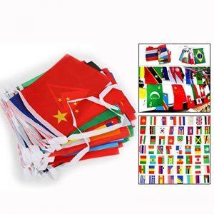 Itian 100 Drapeaux de pays, Drapeaux internationaux Bannière de décoration pour fêtes, Jeux olympiques, Grand ouverture, Bar, Clubs sportifs, etc. de la marque Itian image 0 produit