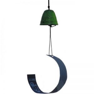 Iwachu - Cloche de vent Feng shui verte en fonte de la marque Iwachu image 0 produit