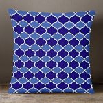 Izabela Peters Designer résistant à l'eau tissu extérieur jardin coussin -marrakech Collection - dessiné imprimé& fait main au R-U - BADI - Nuances de Bleu de la marque Izabela Peters image 2 produit