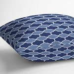 Izabela Peters Designer résistant à l'eau tissu extérieur jardin coussin -marrakech Collection - dessiné imprimé& fait main au R-U - BADI - Nuances de Bleu de la marque Izabela Peters image 1 produit
