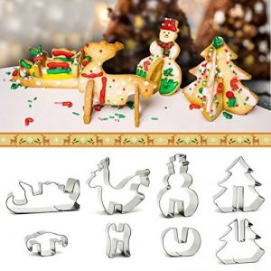 iZoeL Emporte-Pièces Noël 3D Sapin de Noël, Elaphurus davidianus, Bonhomme de neige, Traineau de la marque iZoeL image 0 produit