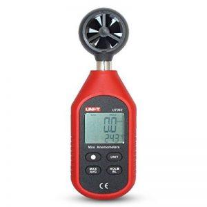 JalonC UNI-T UT363 Mini anémomètre numérique Appareil de mesure de vent de haute précision Impulseur à main Anémomètre à capteur de vitesse de vent de la marque JalonC image 0 produit