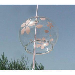 Japonais Carillon vent cloches en verre fait main cadeau d'anniversaire cadeau de Noël Maison un cerisier japonais Carillon (Fleur Rose) de la marque EliteShine image 0 produit