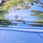 japonais Decor Collection chinois Yard Little Lac entre les arbres avec pierres en automne Saison Naturel Wilderness Chambre à coucher Salon Mur de Dortoir tapisseries Vert Blanc, multicolore, 59.05 x 59.05 Inch de la marque iPrint image 4 produit