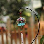 Japonais en verre peint à la main vent carillon Edo furine (poissons in Love) de la marque ACEVER image 4 produit