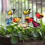 Jardin Décoration de jardin Statue de jardin à piquer Kit déco Lot de 50Papillon 25cm de long en plastique motif papillons de la marque Easy_Buying image 1 produit
