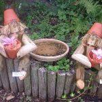 Jardin en bois Woodenmen Lot de 2 décorations de jardin Motif cadeau ou sur la bûche Man Pot de fleurs de la marque woodenmen.co.uk image 1 produit