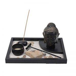 Jardin Zen Antiquités Sculpture de Bouddha thaï Porte-bougie W/Brûle-encens kit de la marque Zamonji image 0 produit