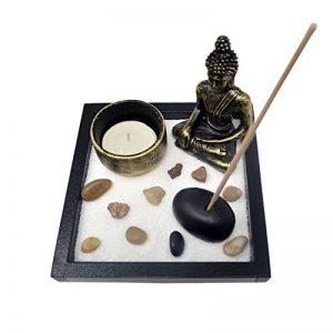 Jardin Zen avec du sable un bouddha des pierres un photophore un porte-encens Feng Shui Bracelet corde rouge gratuit SKU: T1020 de la marque juanxian image 0 produit