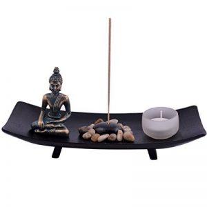 Jardin zen japonais avec porte-encens, bouddha et bracelet rouge de la marque juanxian image 0 produit