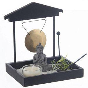 Jardin Zen Japonais Bouddha avec Sable, Gong, photophore... de la marque Générique image 0 produit