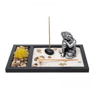 Jardin Zen Méditation Statue Bouddha Assis Porte-encens Méditation Kit de la marque Zamonji image 0 produit