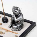 Jardin Zen Méditation Statue Bouddha Assis Porte-encens Méditation Kit de la marque Zamonji image 2 produit