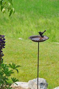 Jardinion Abreuvoir de jardin pour oiseaux, fonte aspect rouille, Station d'alimentation Marron fonce STK de la marque Jardinion image 0 produit