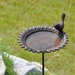 Jardinion Abreuvoir de jardin pour oiseaux, fonte aspect rouille, Station d'alimentation Marron fonce STK de la marque Jardinion image 1 produit