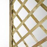 Jardinière Treillage en bois Garden traité autoclave 75x 30H180cm de la marque Verdelook image 4 produit