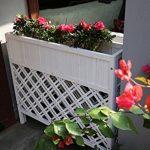 JAZS® Boîtes à fleurs en plein air Anti-corrosion en bois massif Flower Rack Planters Grille Partition L'hôtel est grande clôture clôture Fleur pot cadre protection de l'environnement raffinée ( taille : M ) de la marque ZSSHUAJIA image 1 produit