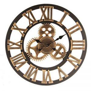 Jeteven 3D 60cm Horloge Pendule Murale en Bois Vintage Rétro Européenne Roue Dentée Or de la marque Jeteven image 0 produit