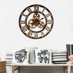 Jeteven 3D 60cm Horloge Pendule Murale en Bois Vintage Rétro Européenne Roue Dentée Or de la marque Jeteven image 2 produit