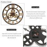Jeteven 3D 60cm Horloge Pendule Murale en Bois Vintage Rétro Européenne Roue Dentée Or de la marque Jeteven image 4 produit