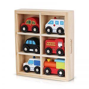 Jouets en Bois Voitures Bus Véhicules d'Urgence Jeu d'Éveil pour Tout-Petits par NimNik de la marque NimNik image 0 produit