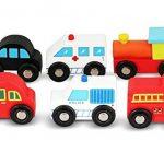 Jouets en Bois Voitures Bus Véhicules d'Urgence Jeu d'Éveil pour Tout-Petits par NimNik de la marque NimNik image 3 produit