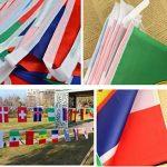 Joykey 10 M International Fanion Bunting 32 Pays Drapeaux Fanion banderole pour Sport Jeux, Club, Étude de Culture, Décoration de Fête de la marque Joykey image 4 produit