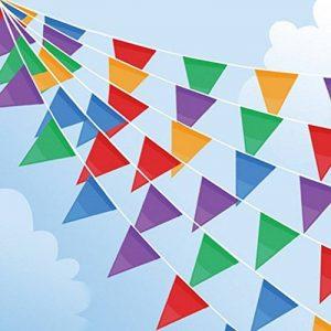 Joykey Fanion Bannière 200 Drapeaux Nylon Bruant Bannière guirlande triangles Pour la décoration de jardin en plein air de la marque Joykey image 0 produit
