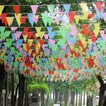 Joykey Fanion Bannière 200 Drapeaux Nylon Bruant Bannière guirlande triangles Pour la décoration de jardin en plein air de la marque Joykey image 4 produit