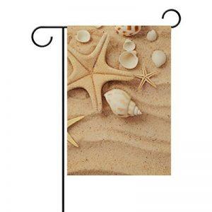 Jstel Home coquillages Tissu Polyester drapeaux de jardin Lovely et résistant aux moisissures personnalisés imperméables de 30,5x 45,7cm de la marque JSTEL image 0 produit