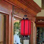 JTDEAL 2Pcs Suspension Mural Crochet Plante(26cm*21cm) Suspendre Support de Pot de Fleur Carillons Lanterne Panier de Jardin en Métal pour Décoration de Jardin, Balcon(Noir) de la marque jtdeal image 2 produit